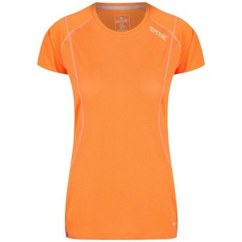 Clothing Women short-sleeved t-shirts Regatta Virda III Quick Dry Mesh T-Shirt Orange Orange