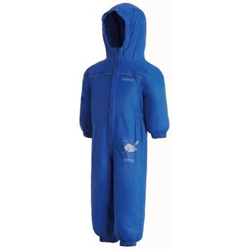 Clothing Children Jumpsuits / Dungarees Regatta Puddle IV Breathable Waterproof Puddle Suit Blue Blue