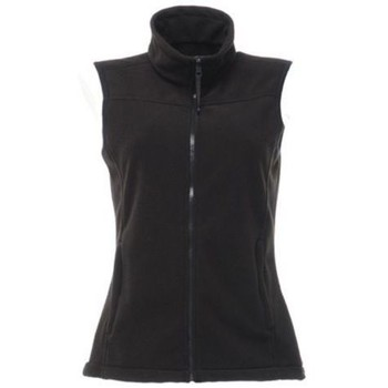 Clothing Women Jackets / Cardigans Professional Haber Fleece Lined Bodywarmer Black Black