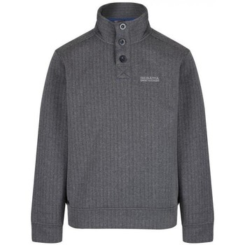 Clothing Men Fleeces Regatta Lucan Herringbone Effect Fleece Grey Grey