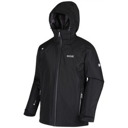 Clothing Men Coats Regatta THORNRIDGE II Waterproof Insulated Jacket Bayleaf Black Black Black