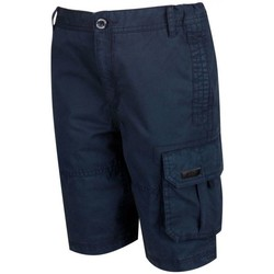 Clothing Children Shorts / Bermudas Regatta SHOREWALK Cotton Shorts Navy Blue Blue