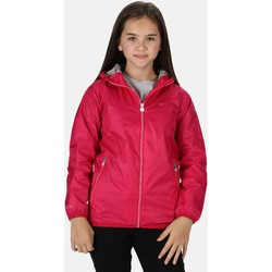 Clothing Children Jackets Regatta LEVER II Waterproof Shell Jacket Seal Grey Pink Pink