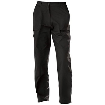 Clothing Women Chinos Professional Action Trousers Black Black