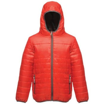 Clothing Children Duffel coats Professional Stormforce Thermal Insulated Hooded Jacket Red Red