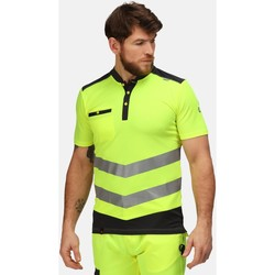 Clothing Men Short-sleeved polo shirts Professional TACTICAL Hi-Vis Polo TShirt Yellow