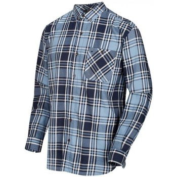 Clothing Men long-sleeved shirts Regatta Lazare Long Sleeved Checked Shirt Blue Blue