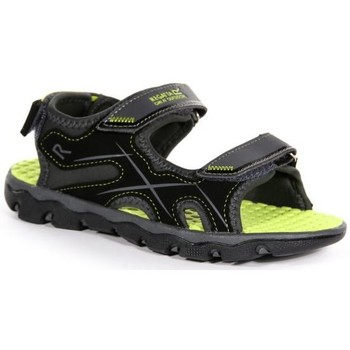 Shoes Children Sandals Regatta KOTA DRIFT JUNIOR Sandals Nautical Blue Electric Lime  Grey Grey