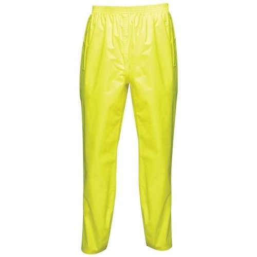 Clothing Chinos Professional PRO PACKAWAY Waterproof Shell Trousers Fluro Yellow Yellow Yellow