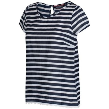 Clothing Women Short-sleeved t-shirts Regatta Jakayla Coolweave Short Sleeve Shirt Navy Stripe Blue Blue