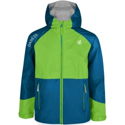 Clothing Children Jackets Dare 2b Affiliate Lightweight Hooded Waterproof Jacket Green Green