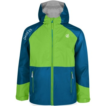 Clothing Children Macs Dare 2b Affiliate Lightweight Hooded Waterproof Jacket Green Green