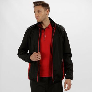 Clothing Men Track tops Professional Athens Tracksuit Jacket Black Classic Red Black Black