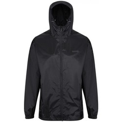 Clothing Men Macs Regatta PACK-IT III Waterproof Shell Jacket Black