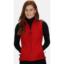 Clothing Women Jackets / Cardigans Professional FLUX Soft-Shell Bodywarmer Black Red Red