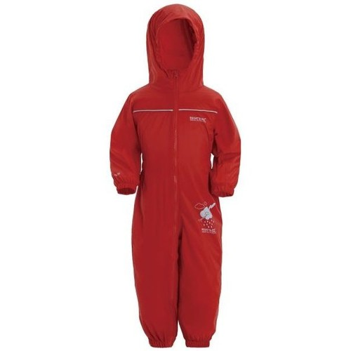 Clothing Children Jumpsuits / Dungarees Regatta PUDDLE IV Waterproof PuddleSuit Red