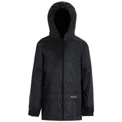 Clothing Children coats Regatta Stormbreak Waterproof Shell Jacket Black Black
