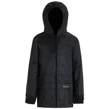 Clothing Children Coats Regatta STORMBREAK Waterproof Jacket Black