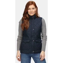 Clothing Women Duffel coats Professional TARAH Quilted Bodywarmer Blue