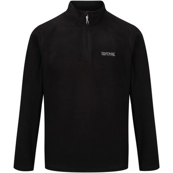 Clothing Men Fleeces Regatta Thompson Lightweight Half-Zip Fleece Black Black