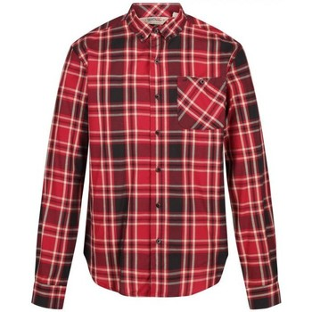 Clothing Men Long-sleeved shirts Regatta Men's Lazare Long Sleeved Checked Shirt Red