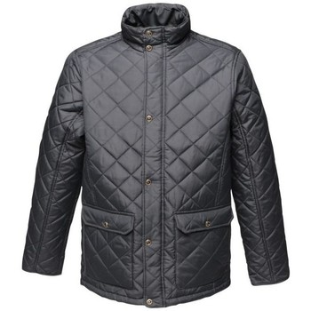 Clothing Men Duffel coats Professional TYLER Quilted Jacket Dark Khaki Blue Blue
