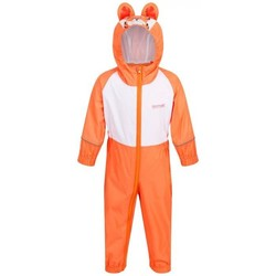 Clothing Children Jumpsuits / Dungarees Regatta CHARCO Waterproof PuddleSuit Pretty Pink Orange Orange