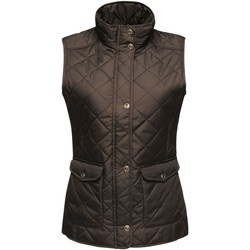 Clothing Women Jackets / Cardigans Professional TARAH Quilted Bodywarmer Black