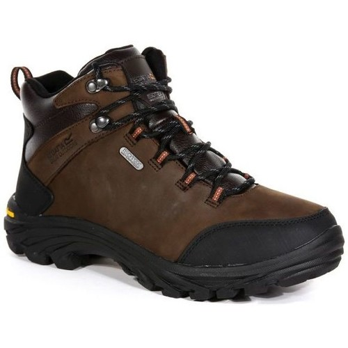 Shoes Men Mid boots Regatta BURRELL Leather Walking Boots Brown