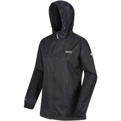 Clothing Women Macs Regatta PACK-IT III Waterproof Shell Jacket Black