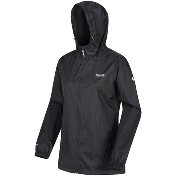 Clothing Women Macs Regatta Pack-It III Lightweight Waterproof Walking Jacket Black Black