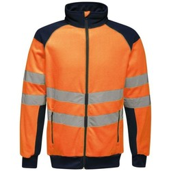 Clothing Men Fleeces Professional HIVIS PRO EN20471 Fleece Yellow Navy Orange Orange