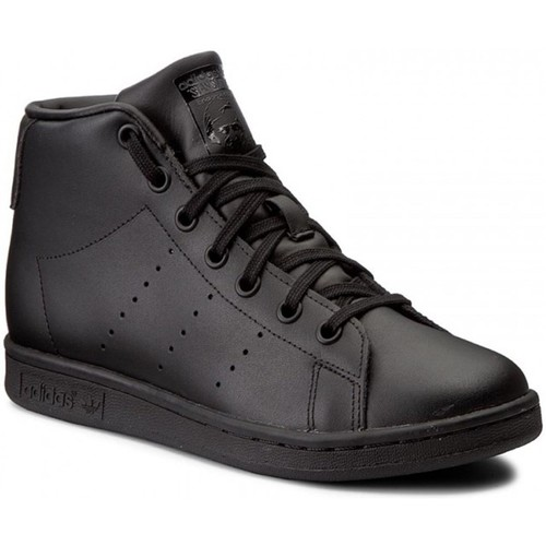 Shoes Children Hi top trainers adidas Originals Stan Smith Mid J Black