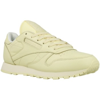 Shoes Women Low top trainers Reebok Sport CL Lthr Pastels White, Beige
