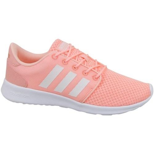 Shoes Women Low top trainers adidas Originals Cloudfoam QT Racer W White, Pink