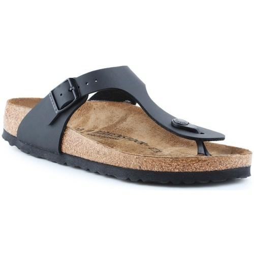 Shoes Women Flip flops Birkenstock Gizeh Beige, Graphite