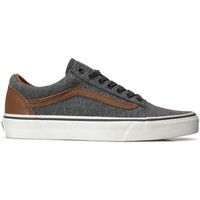 Shoes Low top trainers Vans Old Skool White, Grey, Brown