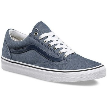 Shoes Low top trainers Vans Old Skool CL C White,Blue,Navy blue