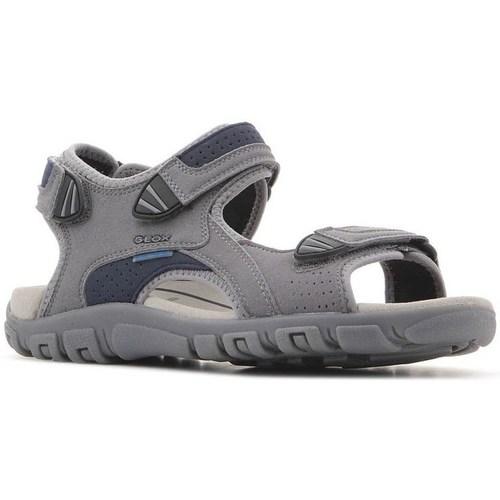Shoes Men Outdoor sandals Geox Strada WF Grey