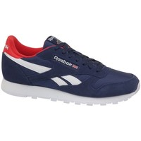 Shoes Men Low top trainers Reebok Sport CL Leather MU Navy blue