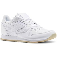 Shoes Women Low top trainers Reebok Sport CL Lthr Crepe Neutral Pop White