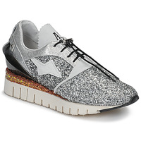 Shoes Women Low top trainers Airstep / A.S.98 DENASTAR Silver / Glitter