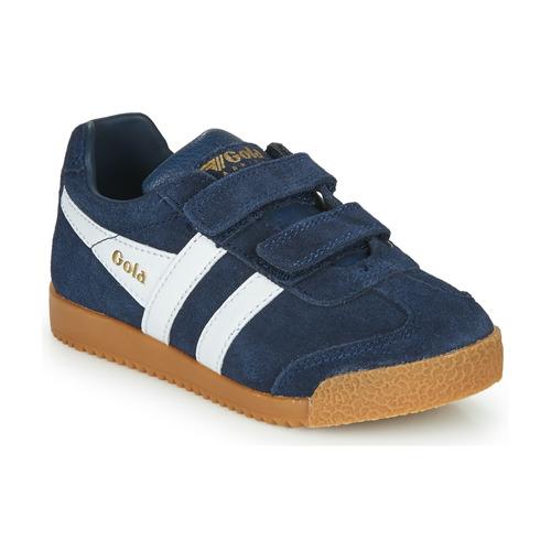 Shoes Children Low top trainers Gola HARRIER VELCRO Marine