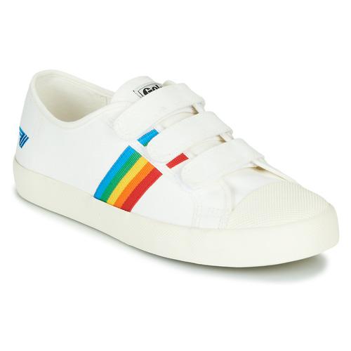 Shoes Women Low top trainers Gola COASTER RAINBOW VELCRO White