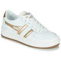 Shoes Women Low top trainers Gola GRANDSLAM LEATHER White / Gold