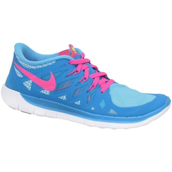 Shoes Children Low top trainers Nike Free 50 GS Blue,Pink