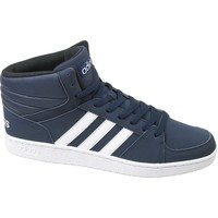 Shoes Men Hi top trainers adidas Originals VS Hoops Mid White,Navy blue