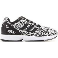 Shoes Children Low top trainers adidas Originals ZX Flux C White, Black