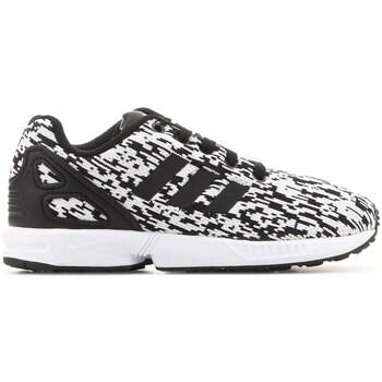 Shoes Children Low top trainers adidas Originals ZX Flux C White,Black
