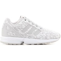 Shoes Children Low top trainers adidas Originals ZX Flux C White,Grey